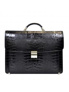 Портфель кожа Desisan 206-11 черный кроко