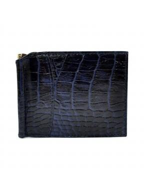 Портмоне-зажим  кожа CANPEL 070-13 синий кроко
