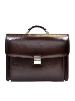 Портфель кожа Desisan 206-019 коричневый флотар
