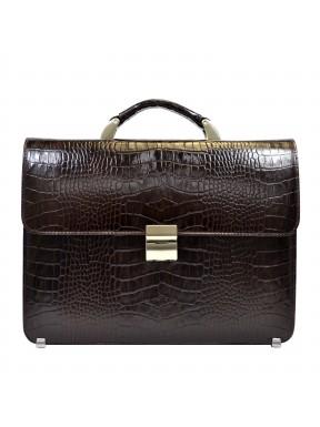 Портфель кожа Desisan 258-19 коричневый кроко