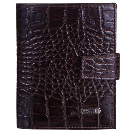 Портмоне кожа CANPEL 1102-11 коричневый кроко