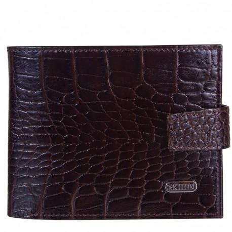 Портмоне кожа CANPEL 1107-11 коричневый кроко
