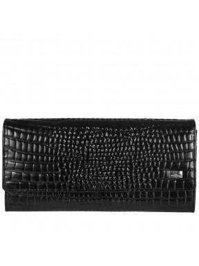 Кошелек женский кожаный Desisan 150-633 черный мелкий кроко