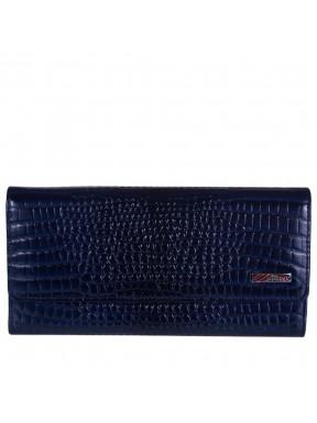 Кошелек женский кожаный Desisan 150-634 синий кроко лак