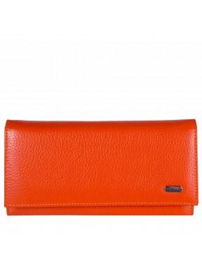 Кошелек женcкий кожаный CANPEL 346-302 оранжевый флотар