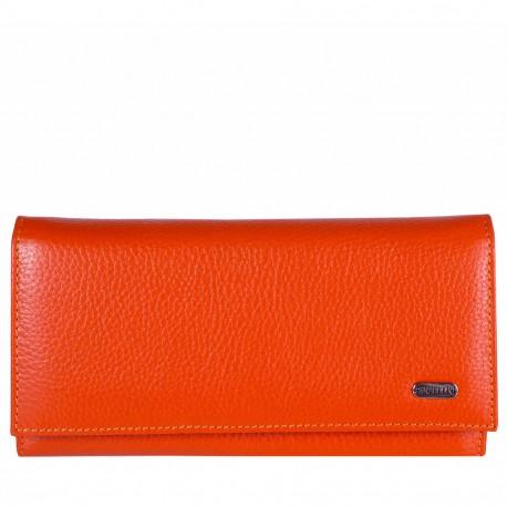 Кошелек женcкий кожа CANPEL 346-302 оранжевый флотар