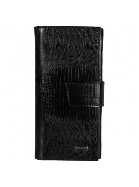 Кошелек женcкий кожаный CANPEL 700-8 черно лазер