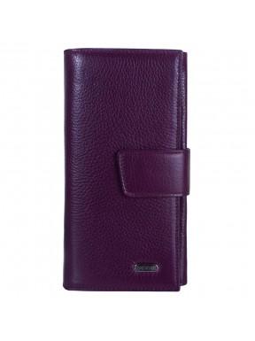 Кошелек женcкий кожаный CANPEL 700-95 фиолетовый флотар
