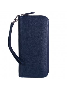 Кошелек женcкий кожаный CANPEL 706-241 синий флотар