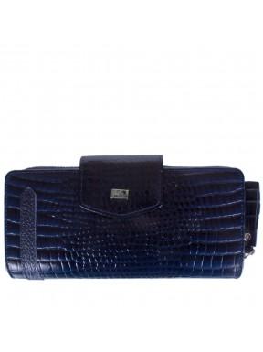 Кошелек женский кожаный Desisan 731-634 синий кроко