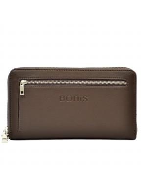 Барсетка кистевая BONIS экокожа 0706-119 коричневая