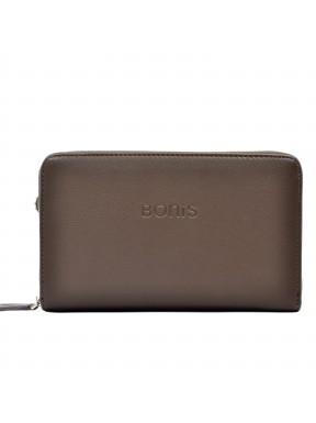 Барсетка кистевая BONIS экокожа 256-119 коричневая