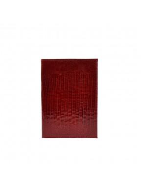 Обложка кожа паспорт лак 002-15 красный лазер