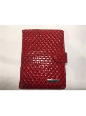 Обложка для авто  кожа KARYA 438-122 красная капля