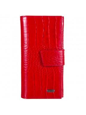 Кошелек женcкий кожаный CANPEL 700-85 красный кроко