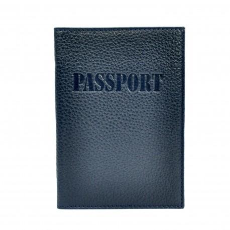 Обложка кожа паспорт мат. 003-241 синий флотар