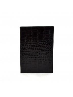 Обложка кожа паспорт мат. 003-2 черный кроко