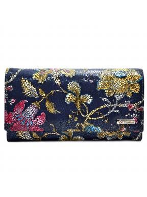 Женское портмоне кожа Desisan 057-415 хохлома
