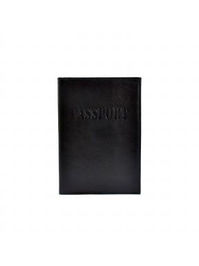 Обложка кожа паспорт мат. 003-1 черный гладкий
