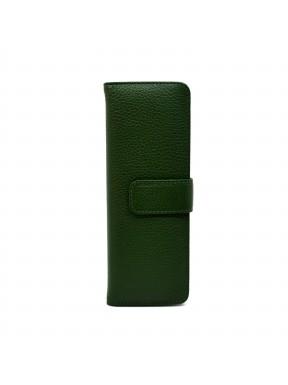 Визитница кожа CANPEL 124-299 зеленый флотар