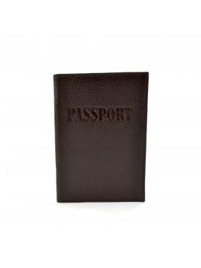 Обложка кожа паспорт мат. 003-14 коричневый флотар