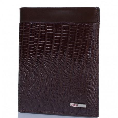 Портмоне кожа GRASS 371-33 коричневый лазер