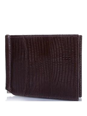 Портмоне-зажим  кожа CANPEL 070-143 коричневый лазер