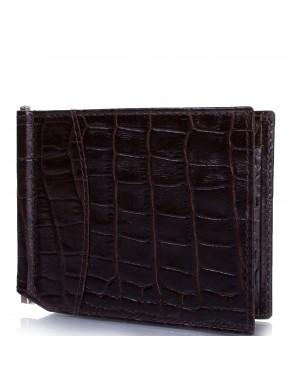Портмоне-зажим  кожа CANPEL 070-11 коричневый кроко
