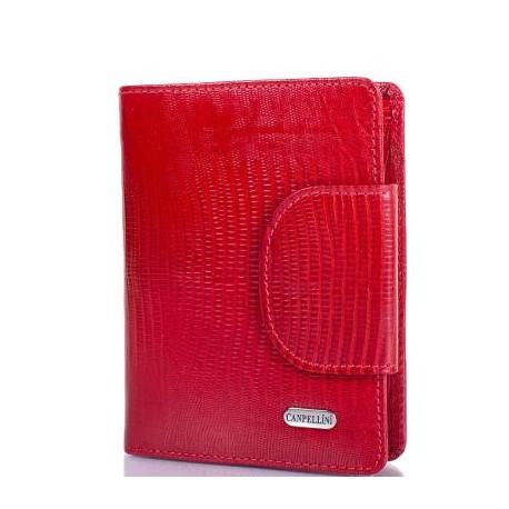 Кошелек женcкий кожа CANPEL 967-15 красный лазер