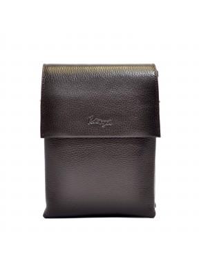 Барсетка мягкая кожа KARYA 0565-39 коричневый флотар