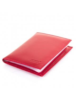 Обложка для документов кожа GRASS 555-5 красный гладкий