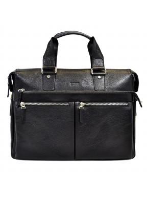 Портфель мягкий кожаный BOND 1366-281 черный флотар