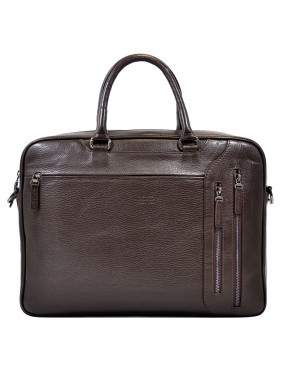 Портфель мягкий кожаный BOND 1095-286 коричневый