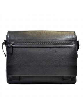 Портфель мягкий кожаный BOND 1108-281 черный флотар