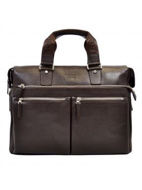 Портфель мягкий кожаный BOND 1366-286 коричневый
