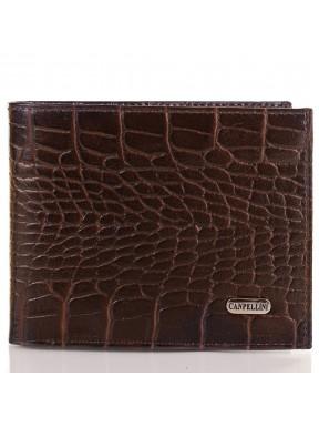 Портмоне кожаное CANPEL 504-11 коричневый кроко