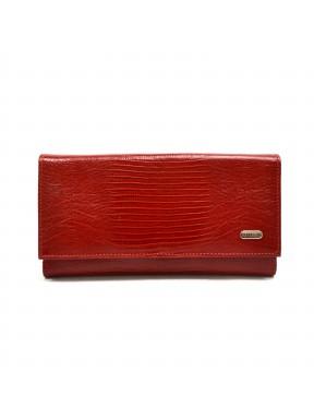 Женское портмоне из натуральной кожи CANPEL 157-15 красный лазер