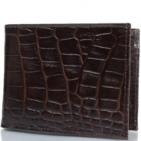 Портмоне кожа CANPEL 1409-11 коричневый кроко
