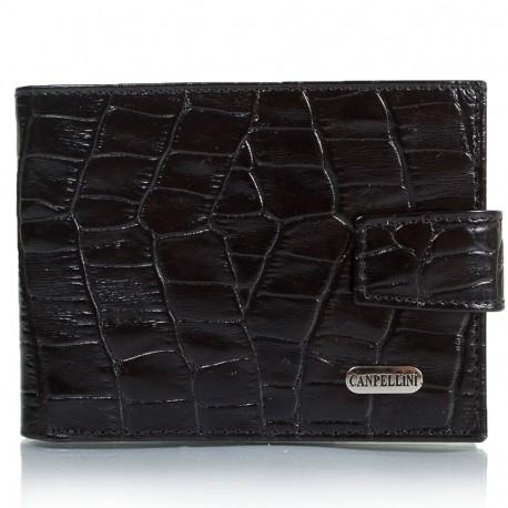 Портмоне CANPEL кожа 1410-2 черный кроко