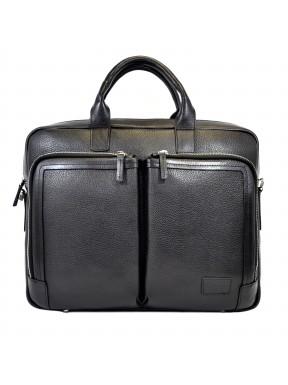 Портфель мягкий кожаный BOND 1085-281 черный флотар