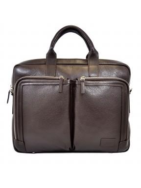 Портфель мягкий кожаный BOND 1085-286 коричневый