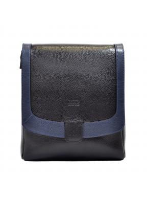 Барсетка мягкая BOND 1122-281-9 черно-синий