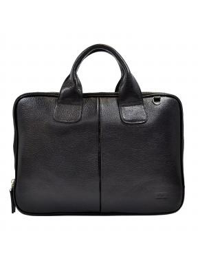 Портфель мягкий кожаный BOND 1320-281 черный
