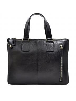 Портфель мягкий кожаный BOND 1394-281 черный