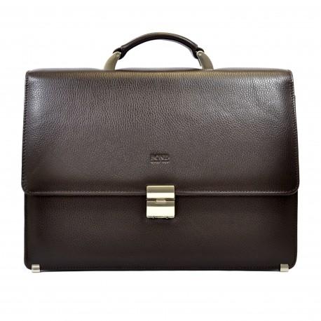 Портфель кожа BOND 1215-286 коричневый флотар