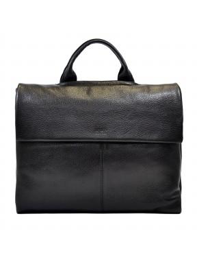 Портфель мягкий кожаный BOND 1039-281 черный флотар