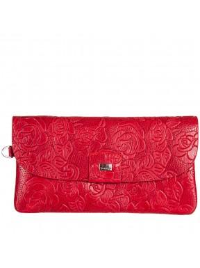 Кошелек женский кожаный Desisan 213-424 красные цветы