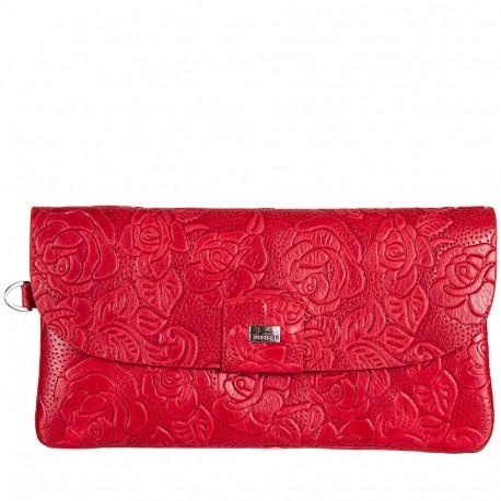 Кошелек женский кожа Desisan 213-424 красные цветы