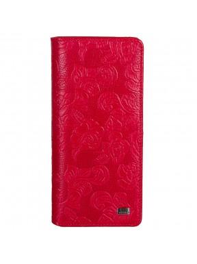 Кошелек женский кожа Desisan 321-424 красные цветы