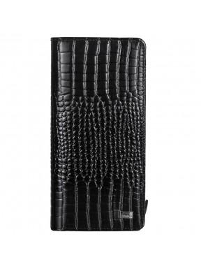 Кошелек женский кожа Desisan 321-633 черный мелкий кроко